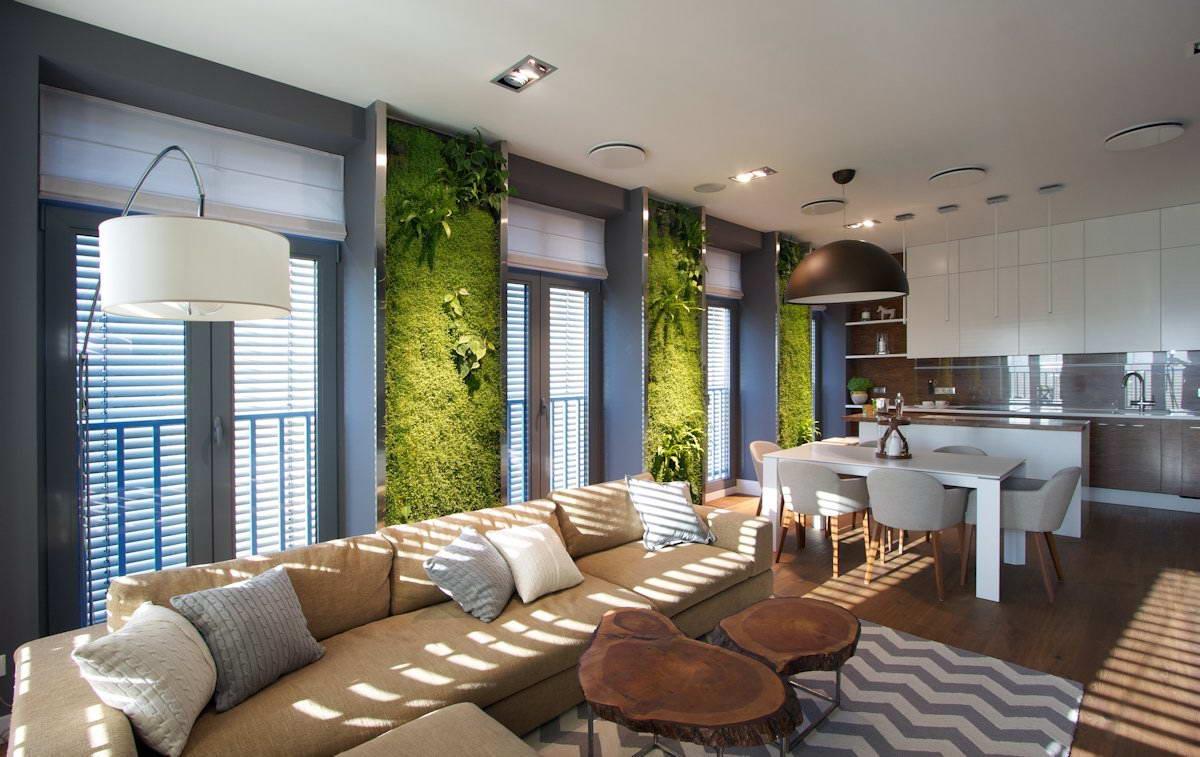 Umesto tapeta: Vertikalne bašte u dnevnoj sobi