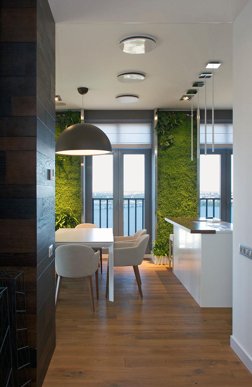 Umesto tapeta vertikalne ba te u dnevnoj sobi for Jardin vertical para cocina