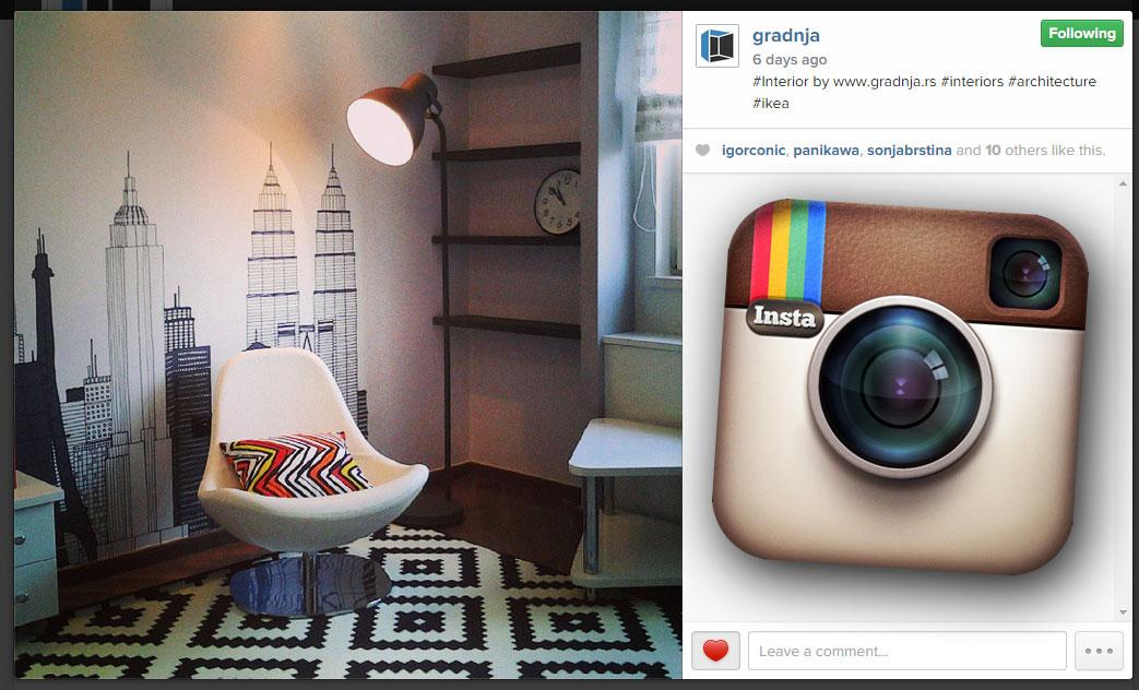 Pratite portal Gradnja.rs na Instagramu