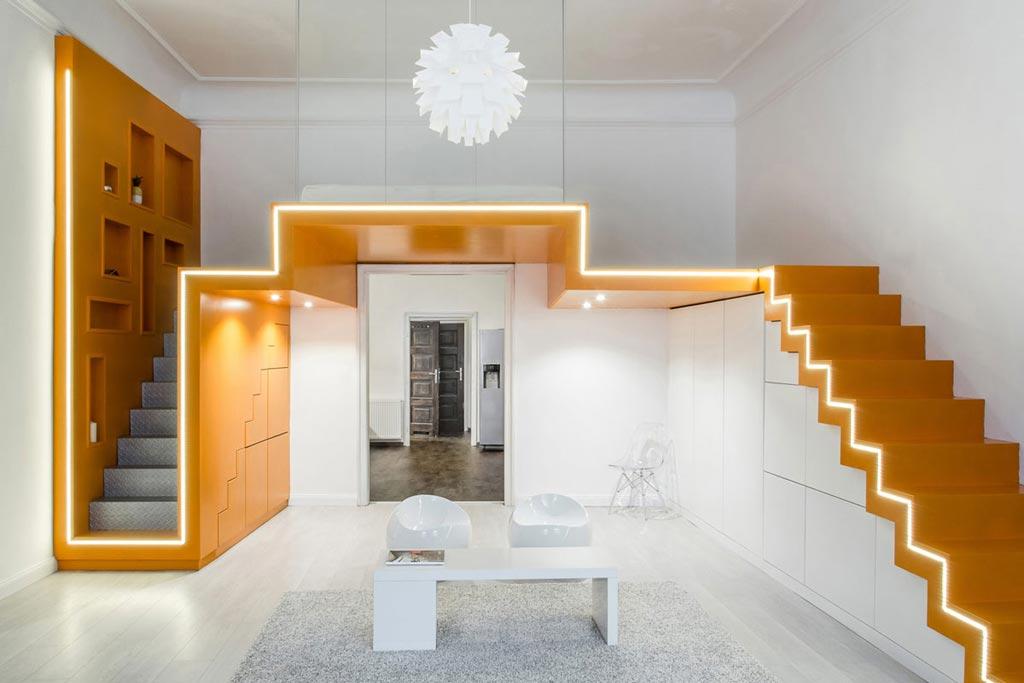 Svakom svoje stepenište: Rešen problem spavanja na galeriji