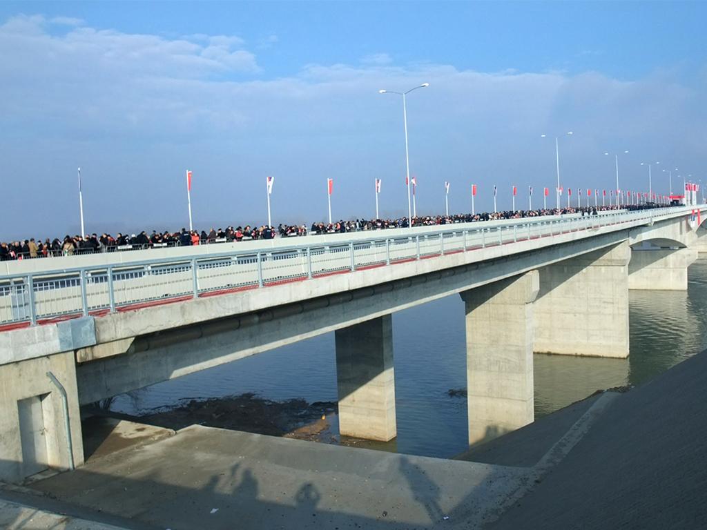 Pogledajte novi Pupinov most u Beogradu iz vazduha