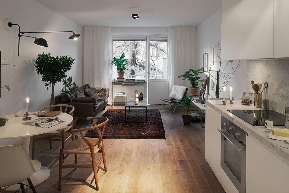 Kako iskoristiti skandinavski stil za uređenje malih stanova