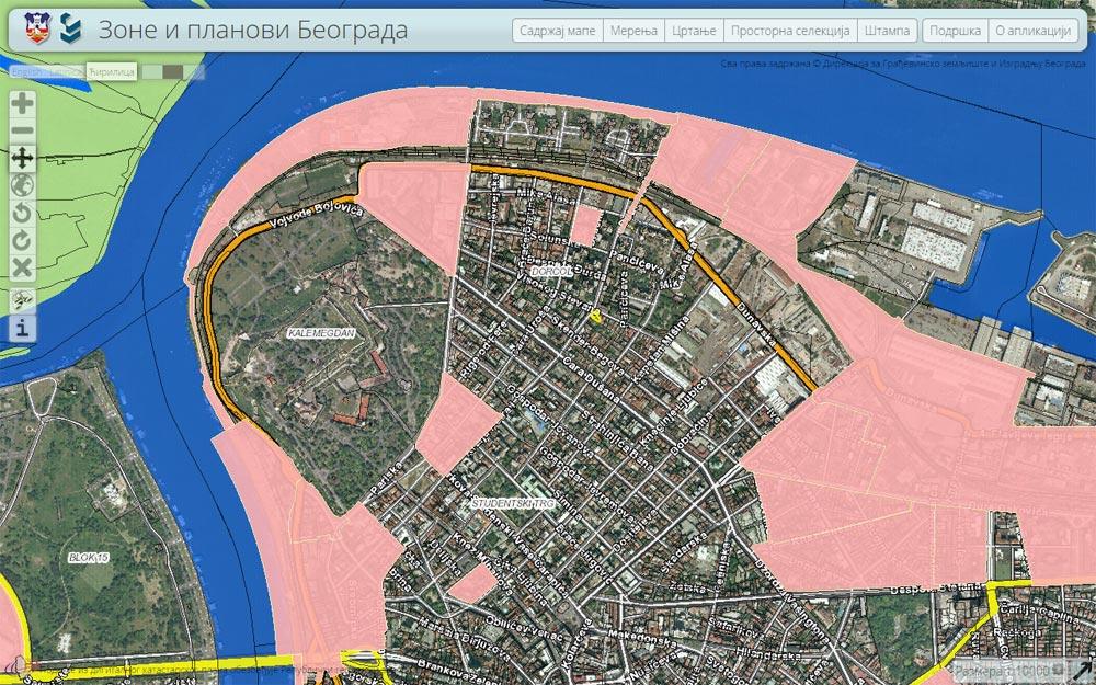 Sajt za zone i planove Beograda ponovo onlajn