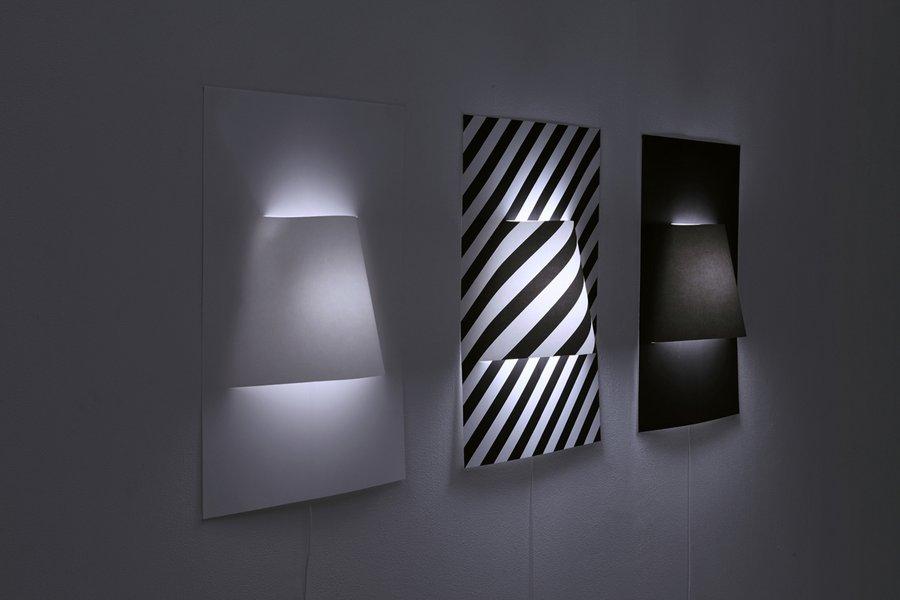 Origami rasveta: Zidna lampa od samo jedog lista papira
