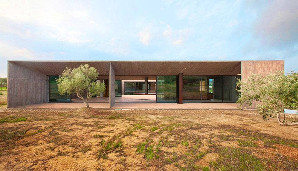 Betonska kuća usred grčkih maslinjaka