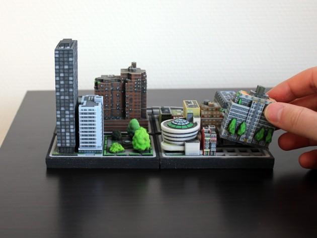 3D printetd city Ittyblox01