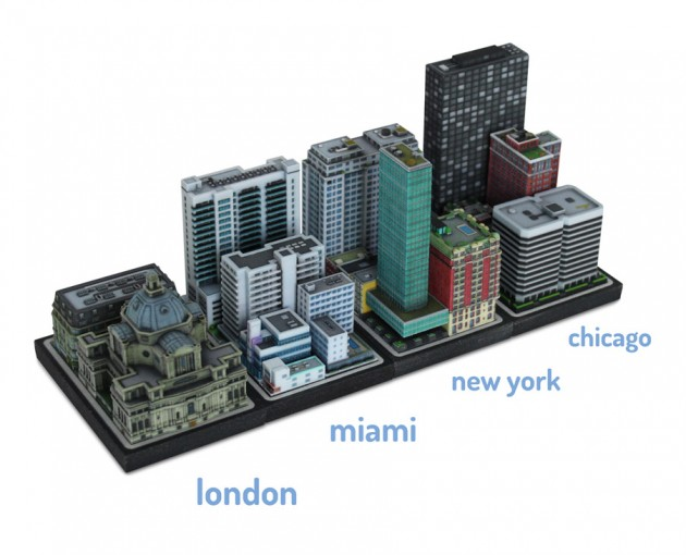 3D printetd city Ittyblox02