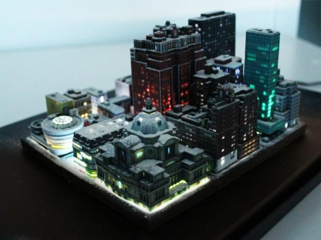 3D printetd city Ittyblox03