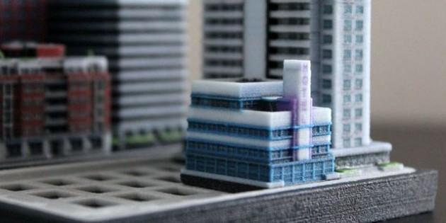 3D printetd city Ittyblox05