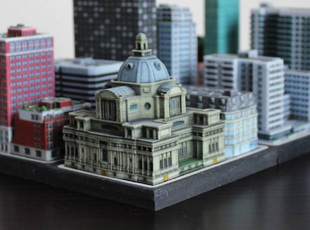 3D printetd city Ittyblox06
