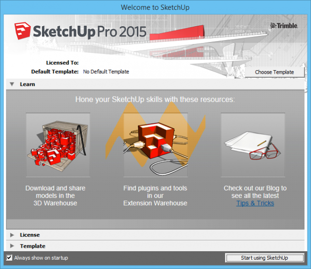 SketchUp Pro 2015 Welcome