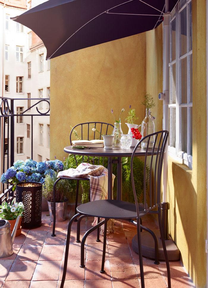Uređenje male terase i balkona za lepe dane na otvorenom