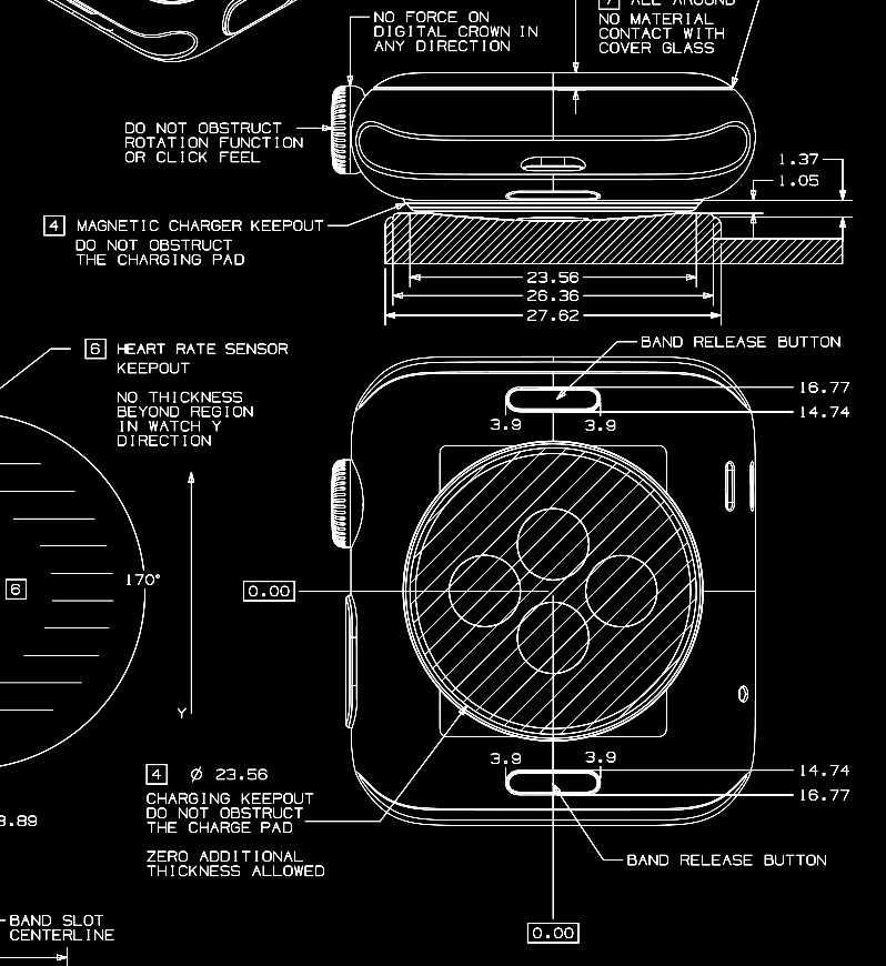 Objavljeni CAD crteži za Apple Watch