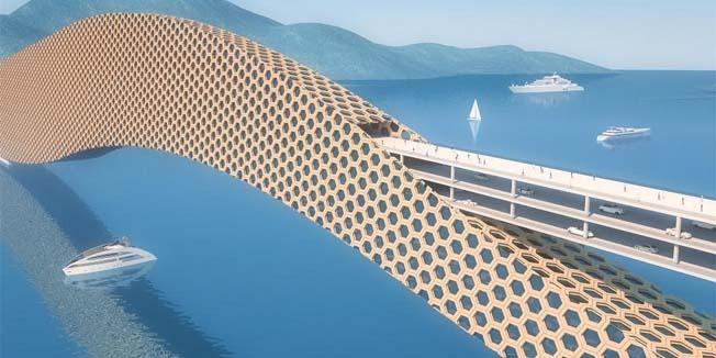 Predložen drveni Pelješki most s hotelom u njegovoj konstrukciji
