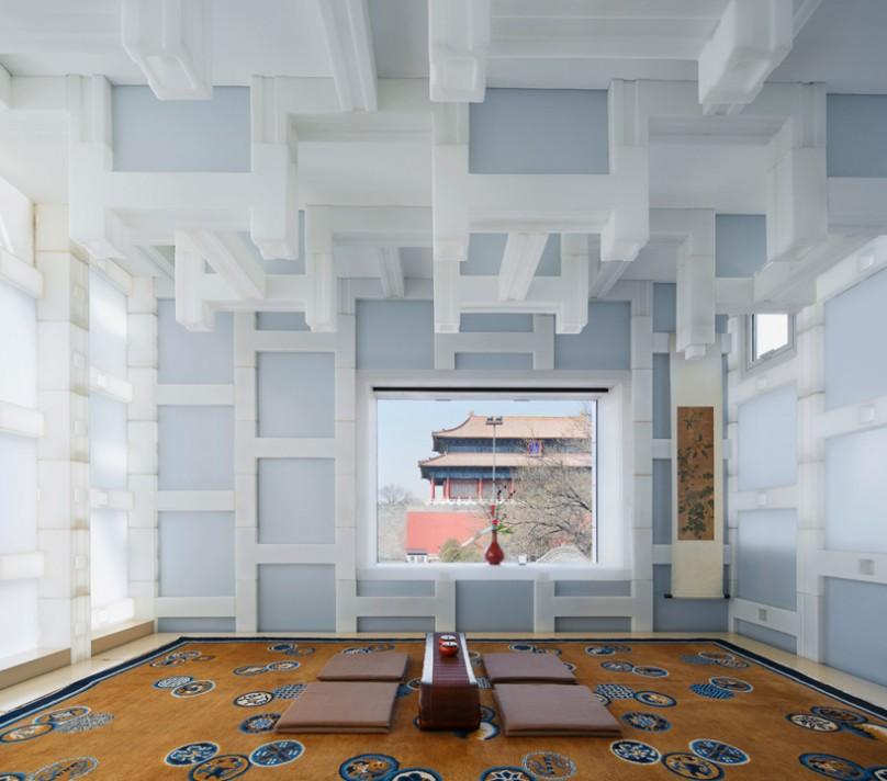 Čajdžinica izrađena od plastičnih blokova