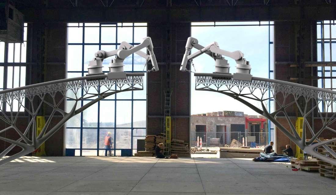 Roboti s 3D štampačima uvode revoluciju u gradnju mostova