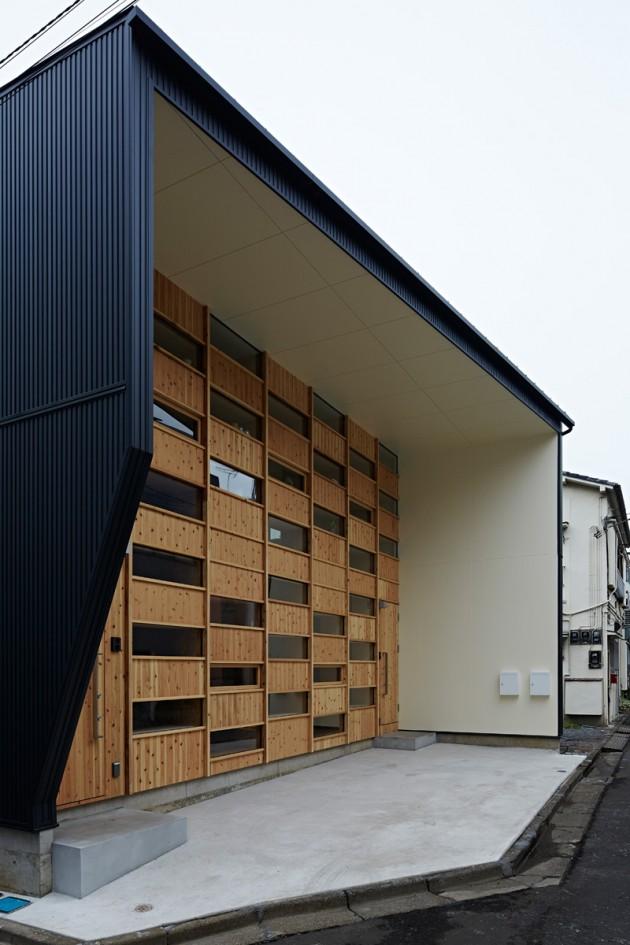 Kuća sa drvenom fasadom 02