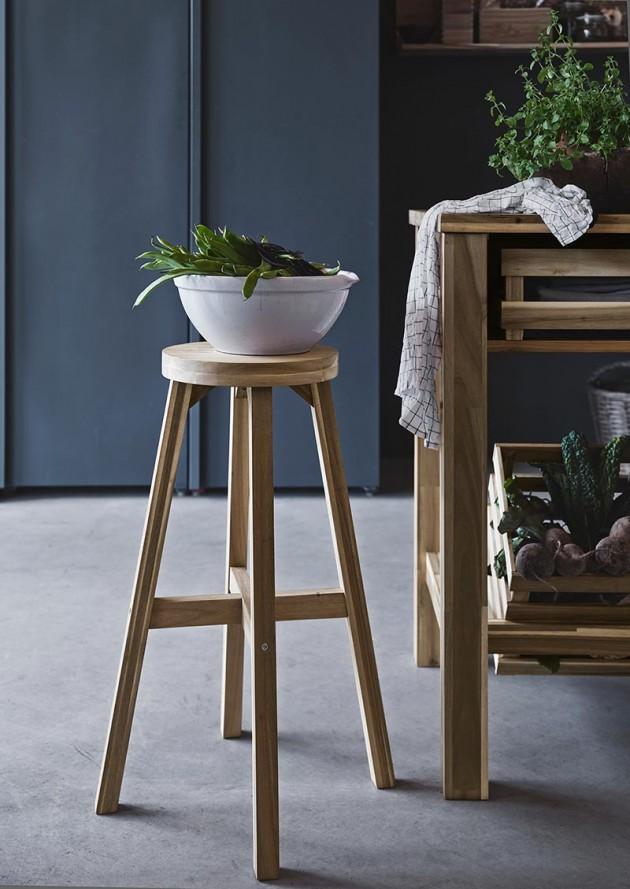 ikea-drvena-barska-stolica