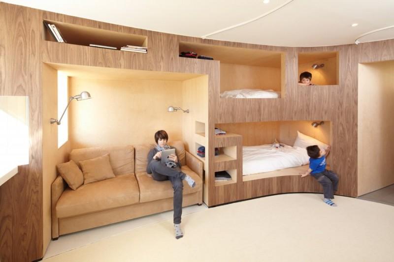 Kreveti na sprat: Maštoviti dečiji kutak