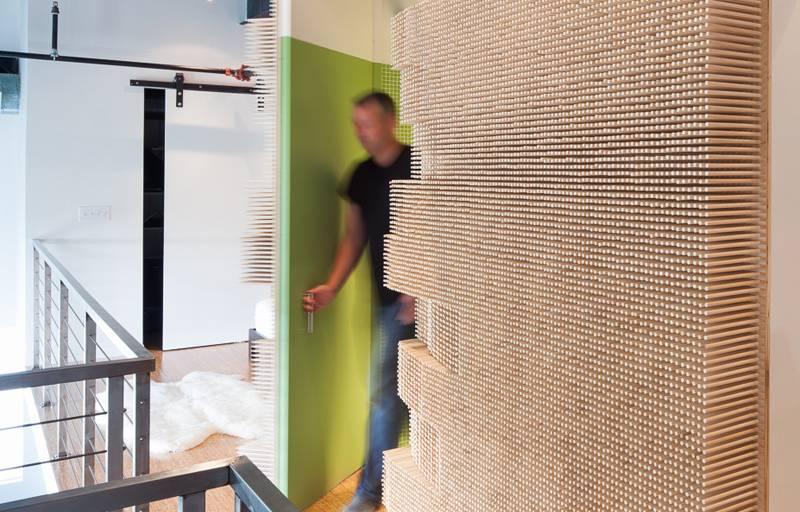 Zanimljivo rešenje kako dati funkciju zidovima izbačenim u prostor