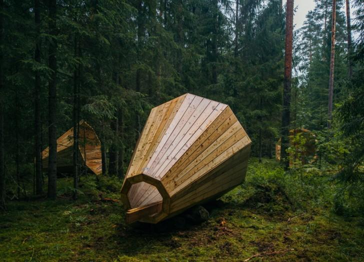 Skulptura od drveta koja pojačava zvukove prirode
