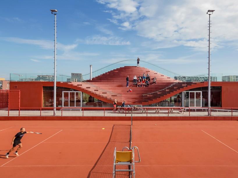 Teniski tereni koji služe kao mamac za naseljavanje novog kvarta