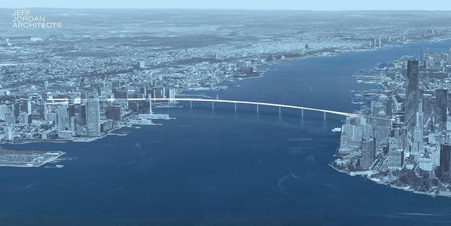 Gradi se pešački most između Njujorka i Nju Džerzija?
