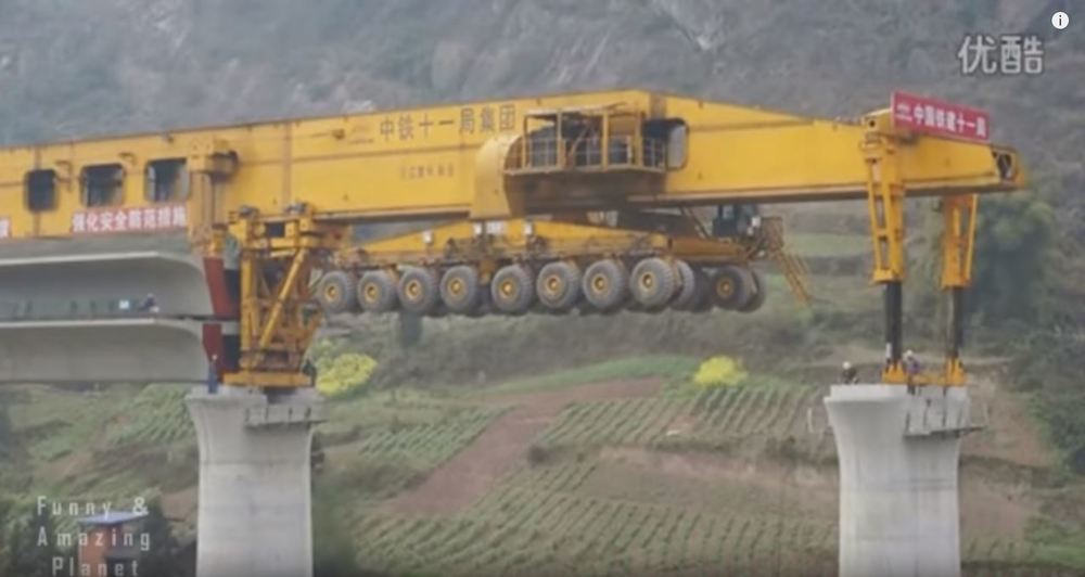Impresivna kineska lansirna skela za građenje mostova