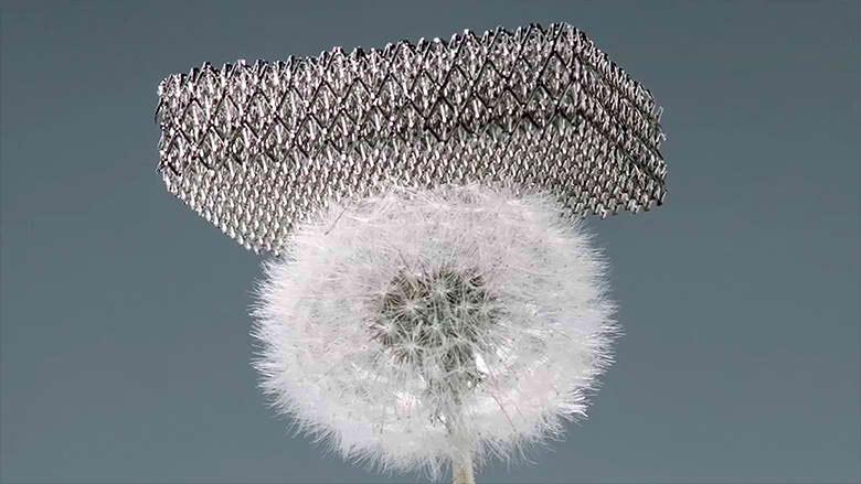 Metalna mreža lakša od stiropora 100 puta