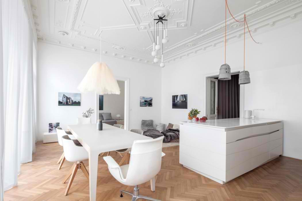 Salonski stan u Beču adaptiran u savremenom duhu