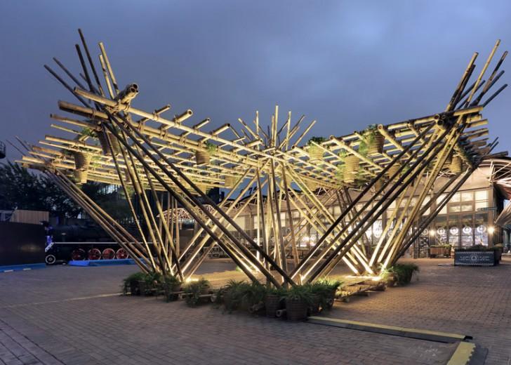 Višespratnice od bambusa s konopcem kao vezivnim materijalom