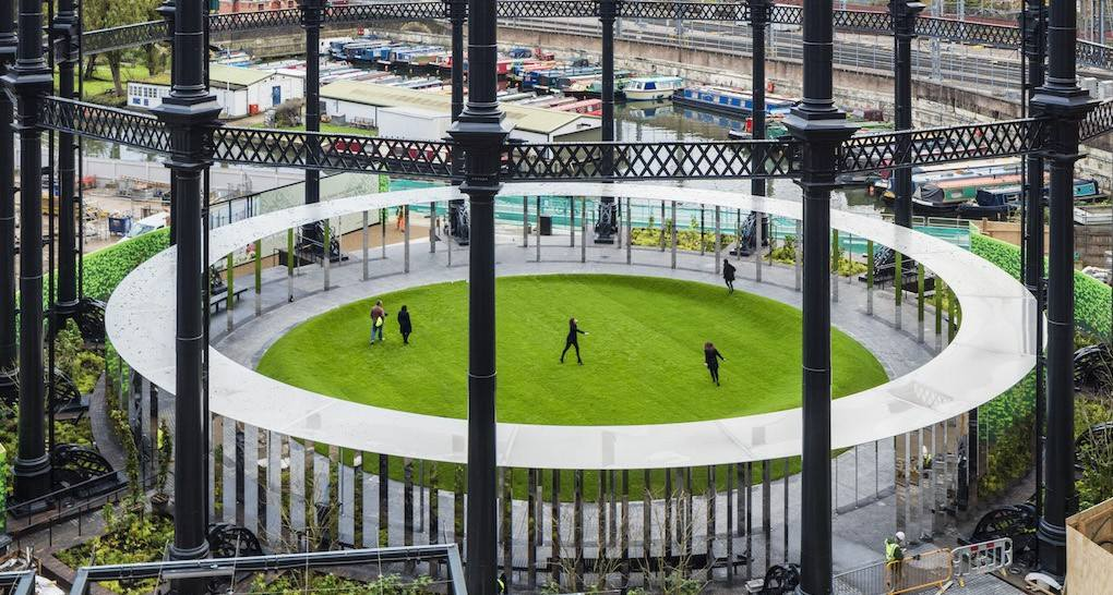 Veliki rezervoar za gorivo pretvoren u park usred Londona