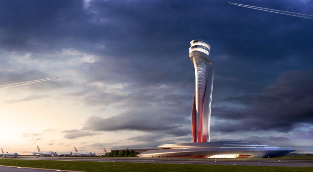 Kontrolni toranj na istanbulskom aerodrom po Pininfarininom rešenju