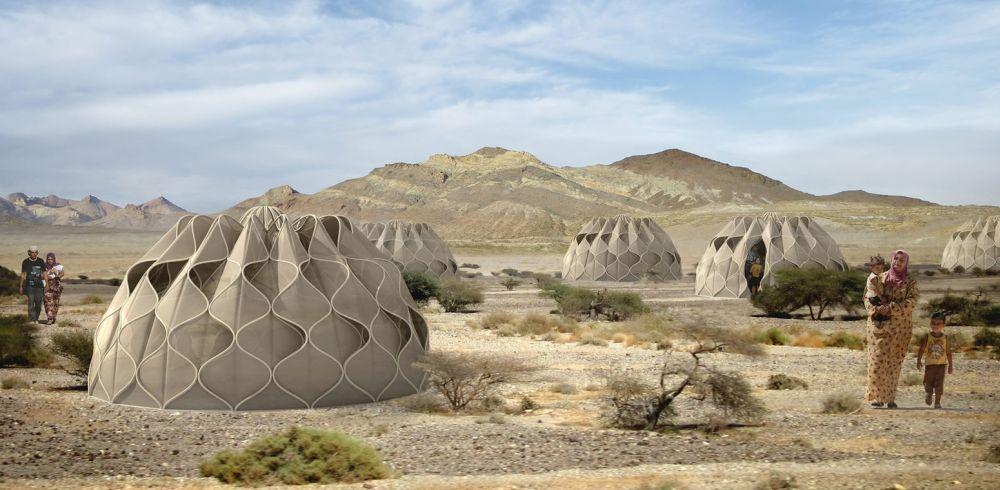 Šatori od konstruktivne tkanine za smeštaj raseljenih lica