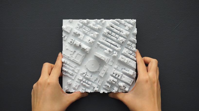 Trodimenzionalne keramičke pločice s motivom Menhetna