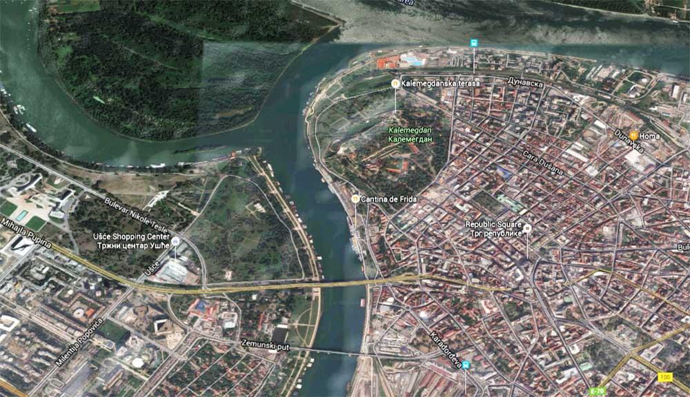 Mapa Beograda Satelitski Prikaz Superjoden