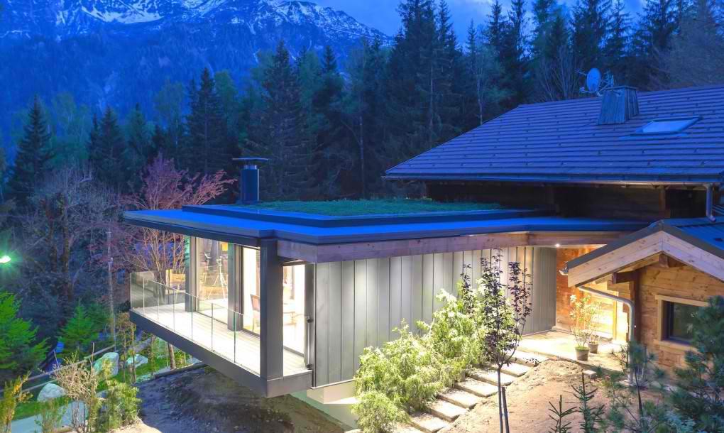 Zeleni izolacioni krov drži planinsku kolibu toplom tokom zime
