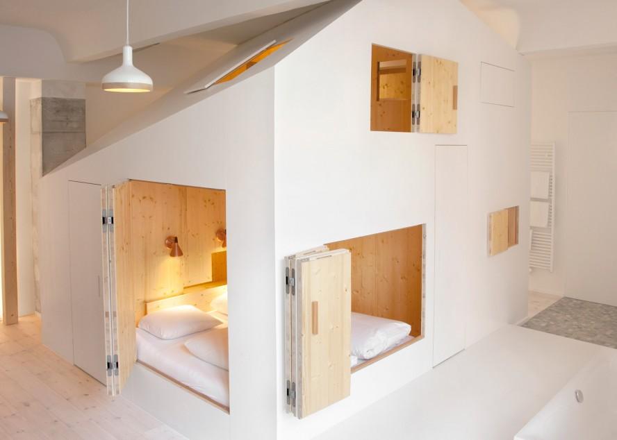 Kućica sa saunom unutar hotelske sobe