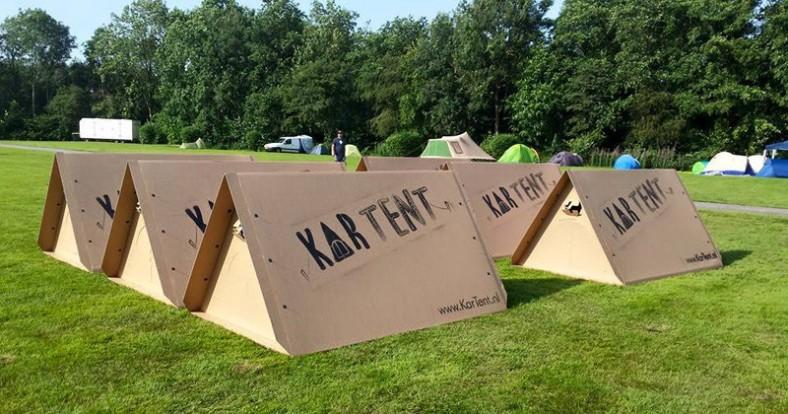 Kartonski šatori za smeštaj posetioca festivala