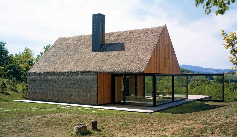 Savremena kuća od slame u Zagorju