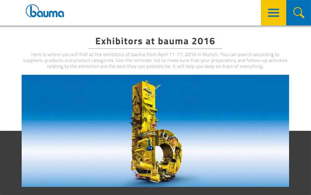 Onlajn izlaganje na minhenskom sajmu BAUMA