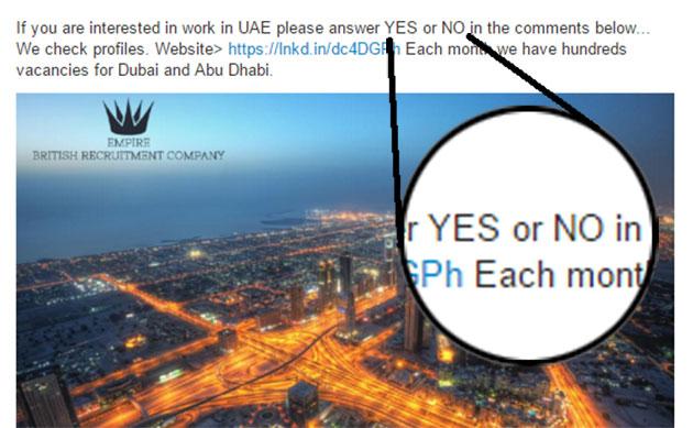 Napišite YES za građevinski posao u Dubaiju