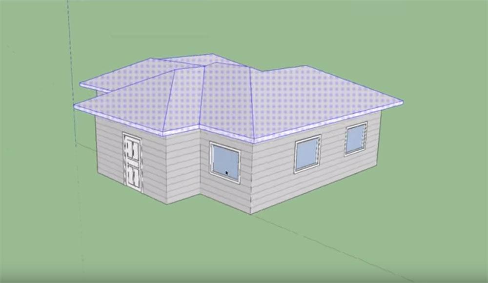Kako nacrtati kosi krov u SketchUpu