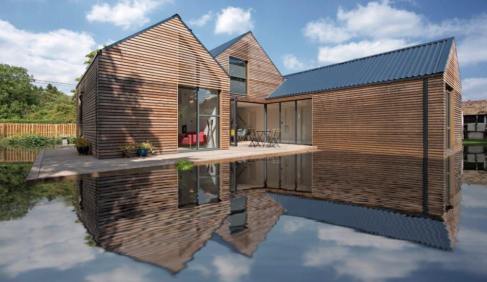 Kuća odignuta od terena za bolju borbu protiv poplava