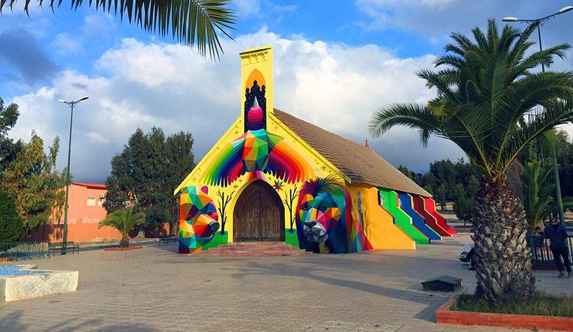Fasada napuštene crkve u Maroku postala platno za umetnika