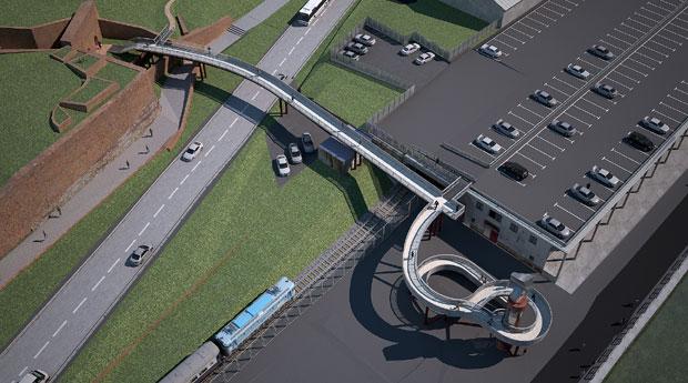 Novo rešenje pasarele koja spaja Kalemegdan i Savsko pristanište
