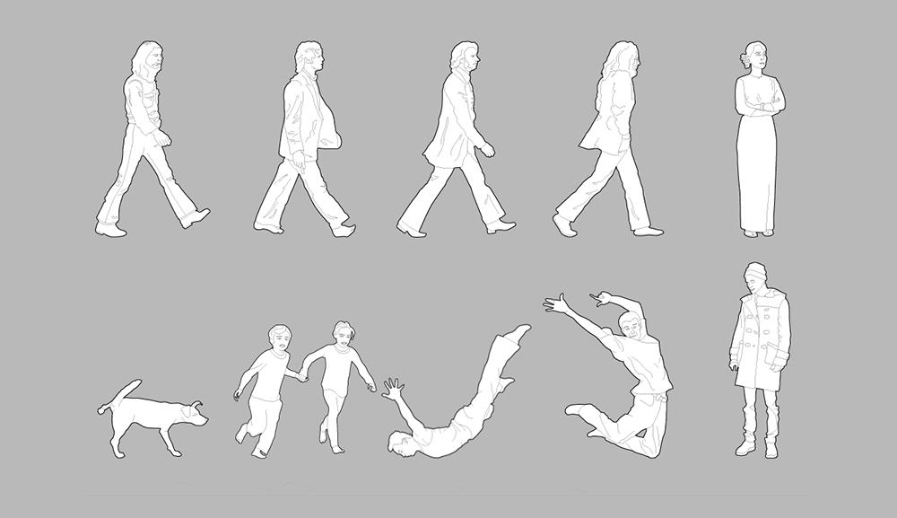 Obogatite svoje crteže vektorskim blokovima ljudi