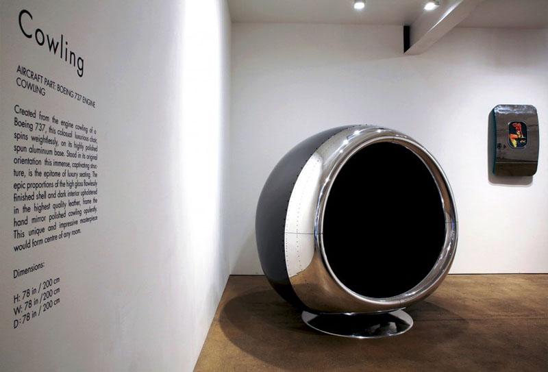 Vežite se, polećemo! Fotelja nastala od motora Boinga 737