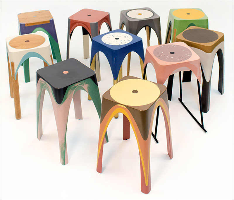 Spoj fizike i umetnosti iznedrio živopisne stolice