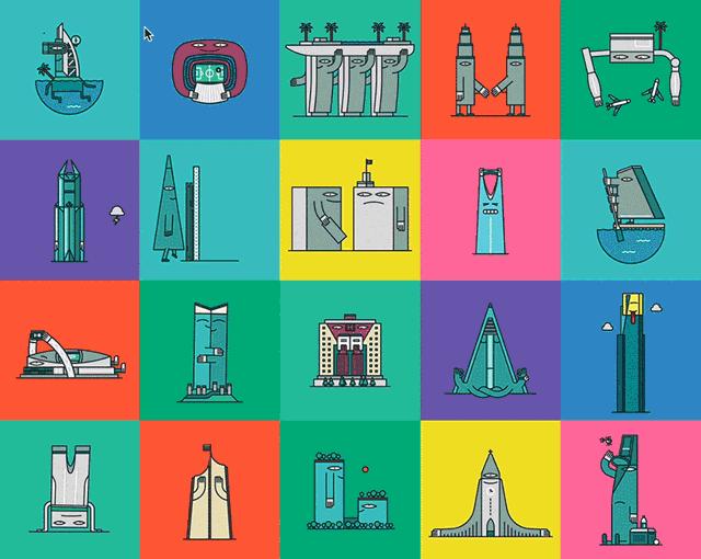 Poznate svetske građevine oživljene GIF animacijama